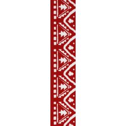Red and white nordic Christmas tree ribbon