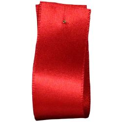 Newlife Double Satin Ribbon 100% Recycled Plastic: Red (Col 15) - 3mm - 70mm widths
