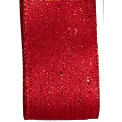63mm Red Shimmer Christmas Ribbon