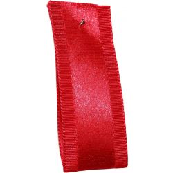Grace Red Satin & Grosgrain Mixed Ribbon - Article 1203