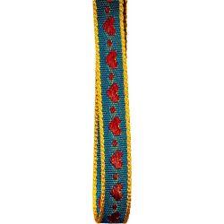 10mm jacquard woven heart ribbon