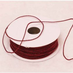 2mm Dark Red Strung Plastic Beads x 20m