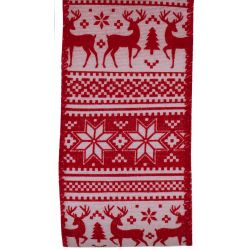 Red and White Scandi Style Christmas Ribbon