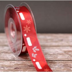 25mm Santa Hat Ribbon - Red