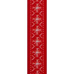 Scandi Flake by Berisfords in Red - 25mm x 25m