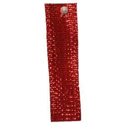 Red Textured Metallic Ribbon