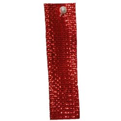Red Textured Metallic Ribbon 3mm x 50m