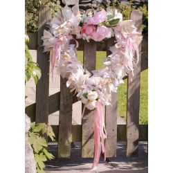 large ribbon heart Wreath Kit