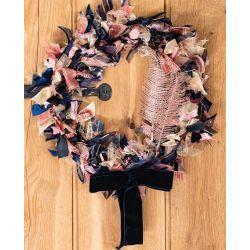 Rose & Navy Seasonal Ribbon Wreath Kit
