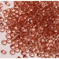 6mm Diamond Shaped Faceted Beads In Rose Gold