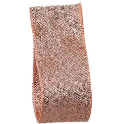 Rose Gold Lame Ribbon Article 9165 - All Widths   (incl BULK REELS)