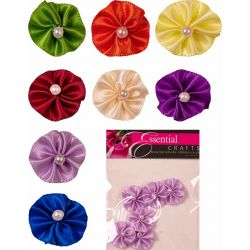 ribbon rosette with pearl centre