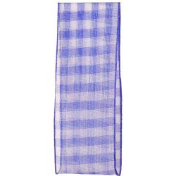 Sheer Gingham Ribbon Col: Royal