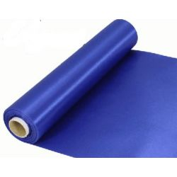 29cm Wide Royal Blue Cut Edged Satin Fabric