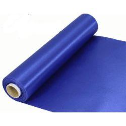 29cm Wide Royal Blue Cut Edged Satin Fabric