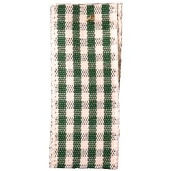 Rustic Gingham Ribbon in Cedar Green (Colour 24) - available in 7mm - 25mm widths