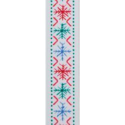 Scandi Flake by Berisfords in White - 25mm x 25m