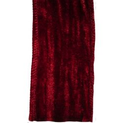 Deep Red Crushed Velvet With Wire Edge