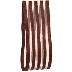 Brown Striped Ribbon