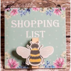Shopping List Bee Plaque
