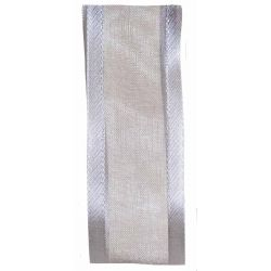 25mm silver grey satin edged ribbon
