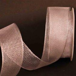 Silver Wired Metallic Mesh Ribbon 38mm x 10m
