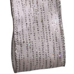 Silver Shimmer Christmas Ribbon