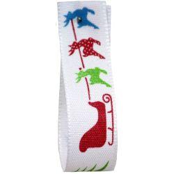 Sleigh Ride Christmas Ribbon 15mm x 20m Article 13948
