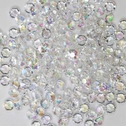 6mm Diamond Shaped Faceted Beads In Iridescent