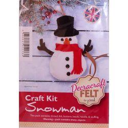 Snowman Felt Kit