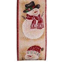 Snowman Design Christmas Ribbon