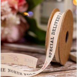 Special Delivery North Pole Ribbon - 15mm x 4m
