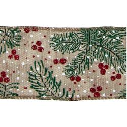 Spruce and Berry Ribbon 63mm x 10yrds
