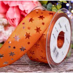 40mm Taffeta Ribbon With Cut Out Star Design