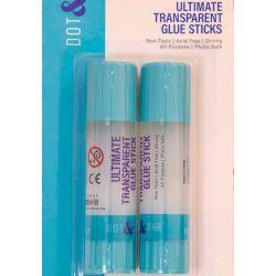 Dot & Dab Ultimate Transparent Glue Stick x 2