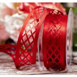 35mm x 15m Trellis Ribbon In Red