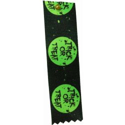 Flo Green Trick Or Treat Halloween Ribbon 25mm x 20m