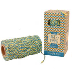 Turquoise and yellow bakers twine
