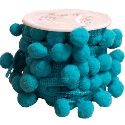 Turquoise Bobble Ribbon 20mm x 5m