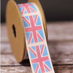 Union Jack Vintage Flag Ribbon 25mm x 3m