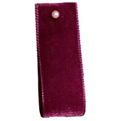 Velvet Ribbon By Berisfords Col: Bordeaux 9390 - available in 9mm - 50mm widths