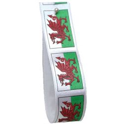 Welsh Flag Ribbons 35mm x 20m