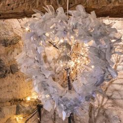 Large Luxury Wreath Kit In Silver, White & Iridescent