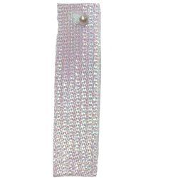 White Textured Metallic Ribbon