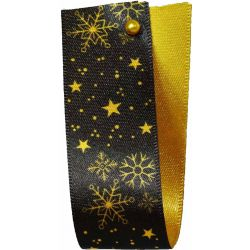 Winter Sky Christmas Ribbon Gold 25mm x 25m