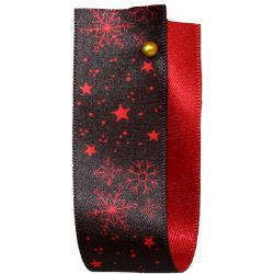 Winter Sky Christmas Ribbon Red 25mm x 25m