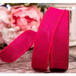 32mm Fuchsia Pink Hessian Ribbon