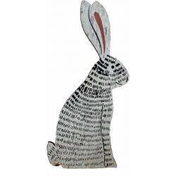 Hanging Wooden Hare Decoration
