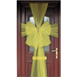 Gold Sheer Ribbon Door Bow