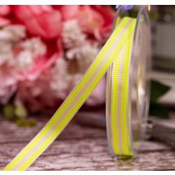 Neon Stripe Ribbon 10mm x 20m Col: Yellow